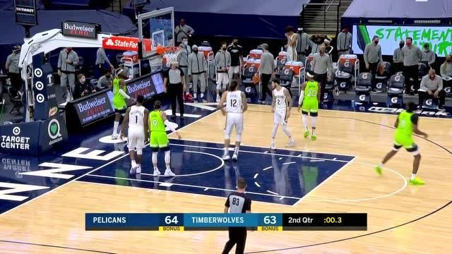 01月24日 NBA 森林狼VS鹈鹕 全场集锦